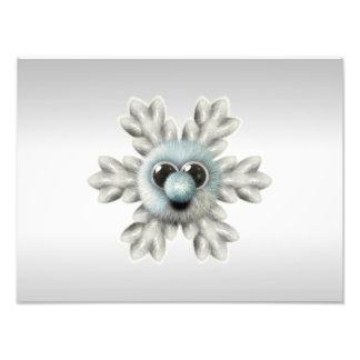 Cute Fuzzy Snowflake Photo Print