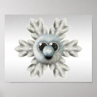 Cute Fuzzy Snowflake Poster
