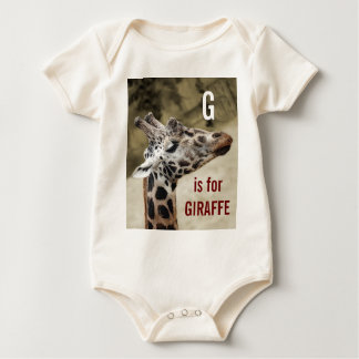 Cute G Is For Giraffe Baby Outfit Baby Bodysuit
