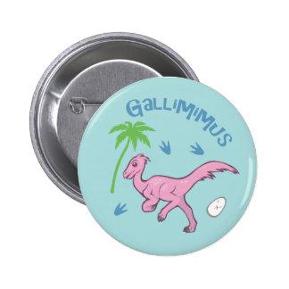 Cute Gallimimus 2 Inch Round Button