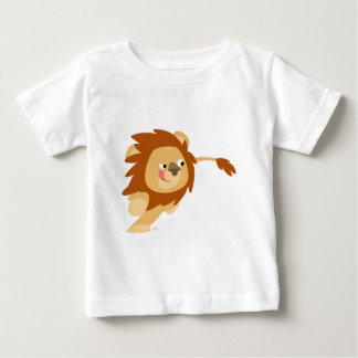 Cute Galloping Cartoon Lion Baby T-Shirt