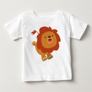 Cute Gamboling Cartoon Lion Baby T-Shirt
