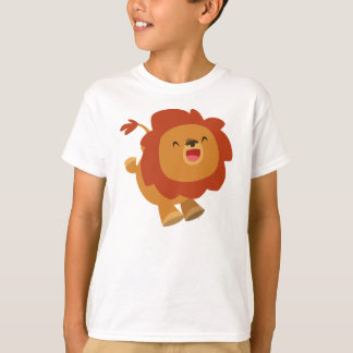 Cute Gamboling Cartoon Lion Children T-Shirt