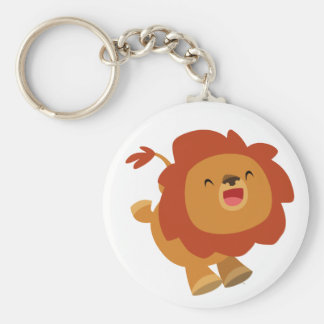 Cute Gamboling Cartoon Lion Keychain