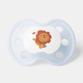 Cute Gamboling Cartoon Lion Pacifier