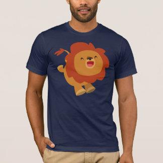 Cute Gamboling Cartoon Lion T-Shirt