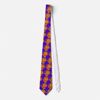 Cute Gamboling Cartoon Lion Tie