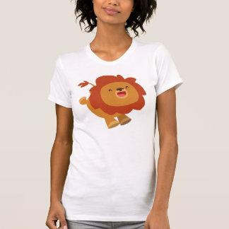 Cute Gamboling Cartoon Lion Women T-Shirt