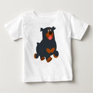 Cute Gamboling Cartoon Rottweiler Baby T-Shirt