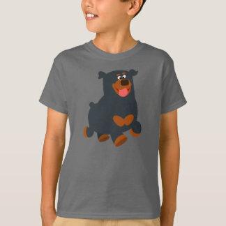 Cute Gamboling Cartoon Rottweiler Children T-Shirt