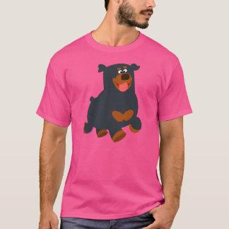 Cute Gamboling Cartoon Rottweiler T-Shirt