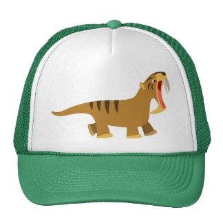 Cute Gaping Mouth Cartoon Thylacosmilus Hat