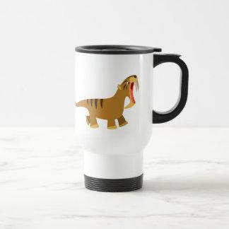 Cute Gaping Mouth Thylacosmilus Commuter Mug