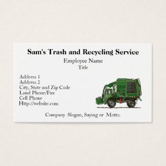 Cute Garbage Truck Trash Truck Business Card