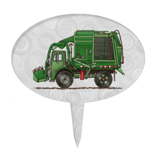 dump truck wedding cake toppers garbage truck trash truck cake topper zazzle 13783