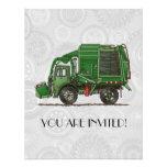 Cute Garbage Truck Trash Truck Custom Announcement