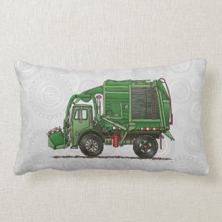 Cute Garbage Truck Trash Truck Lumbar Pillow