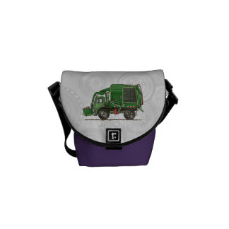 Cute Garbage Truck Trash Truck Messenger Bag
