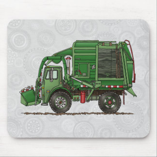 Cute Garbage Truck Trash Truck Mouse Pad