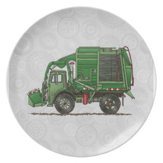 Cute Garbage Truck Trash Truck Plates
