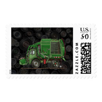 Cute Garbage Truck Trash Truck Postage