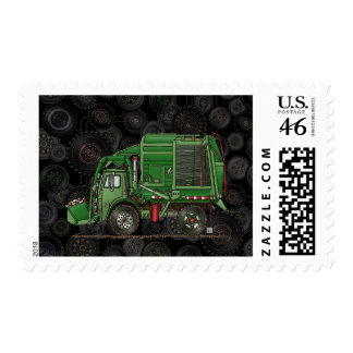Cute Garbage Truck Trash Truck Postage Stamp