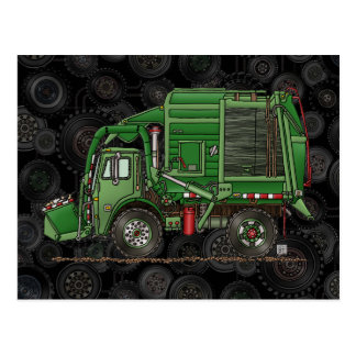 Cute Garbage Truck Trash Truck Postcard