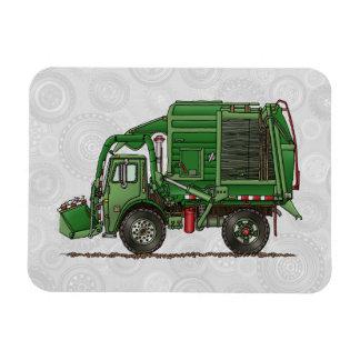 Cute Garbage Truck Trash Truck Rectangular Photo Magnet