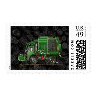 Cute Garbage Truck Trash Truck Stamps