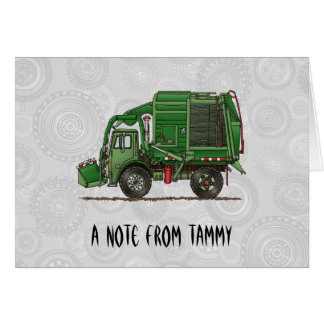 Cute Garbage Truck Trash Truck Stationery Note Card