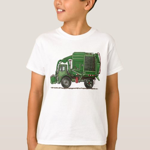 Cute Garbage Truck Trash Truck T_Shirt