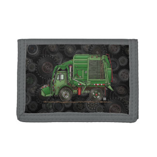 Cute Garbage Truck Trash Truck Trifold Wallet
