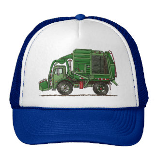Cute Garbage Truck Trash Truck Trucker Hat