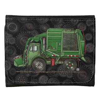 Cute Garbage Truck Trash Truck Tri-fold Wallet