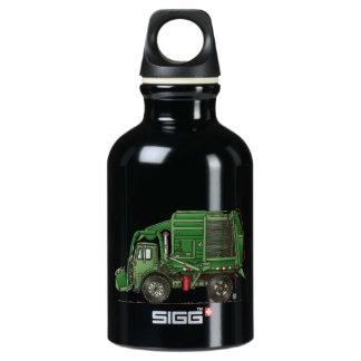 Cute Garbage Truck Trash Truck Water Bottle