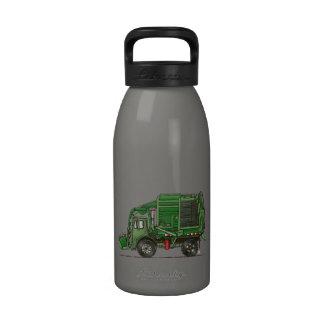 Cute Garbage Truck Trash Truck Reusable Water Bottles
