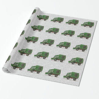 Cute Garbage Truck Trash Truck Wrapping Paper