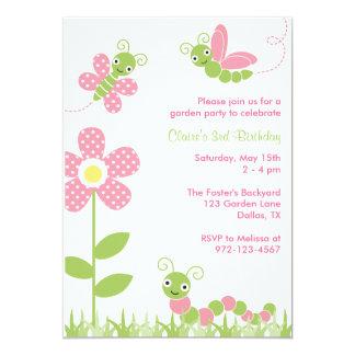 """Cute Garden Bugs Invitations 5"""" X 7"""" Invitation Card"""