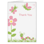 Cute Garden Bugs Note Card Greeting Cards