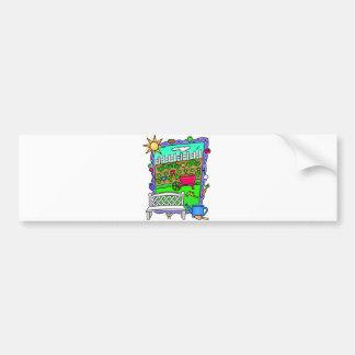 Cute Garden Design Bumper Sticker