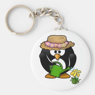 Cute garden penguin animation cartoon illustration keychain