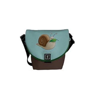 Cute Garden Snail Messenger Bags