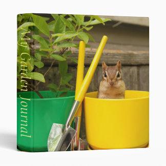 "Cute Gardening Chipmunk 1"" Photo Album 3 Ring Binder"