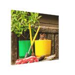 Cute Gardening Chipmunk Gallery Wrap Canvas