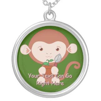 Cute Gardening Monkey Necklace