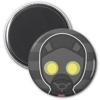 Cute Gas Mask Guy 2 Inch Round Magnet