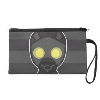 Cute Gas Mask Guy Wristlet