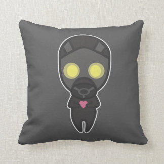 Cute Gas Mask Guy with Heart Pillows