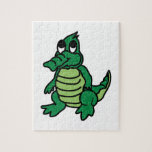 """Cute Gator Jigsaw Puzzle<br><div class=""""desc"""">Get this whimsical design on nursery projects.  This will be adorable on fitted crib sheet,  toddler quilt and crib skirts.</div>"""