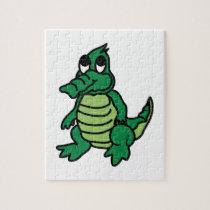 Cute Gator Jigsaw Puzzle